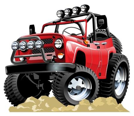 low prizes: jeep caricatura pintar un clic Vectores