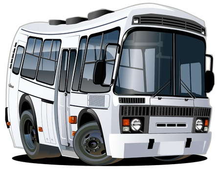 vector cartoon: Vector cartoon bus