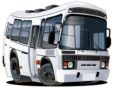 tourist bus: Vector cartoon bus