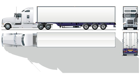 rear wheel: hi-detailed commercial semi-truck