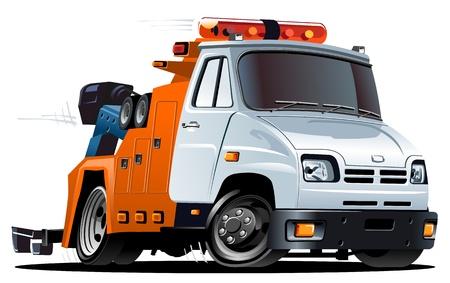 camion grua: dibujos animados de grúas