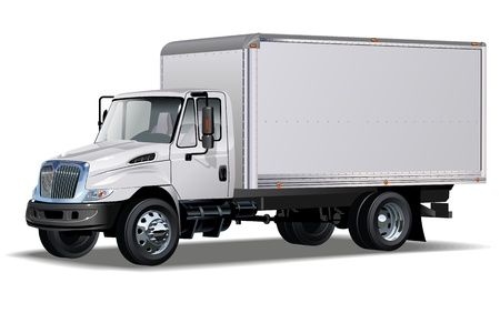 delivery   cargo truck  One click repaint Vector