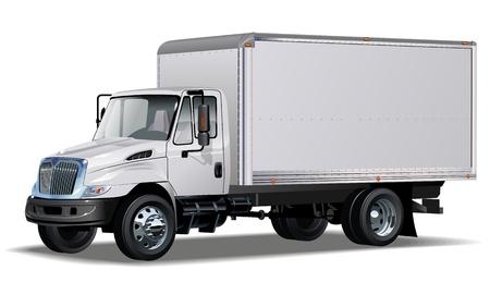 Vector de entrega / camión de carga. Un clic en volver a pintar