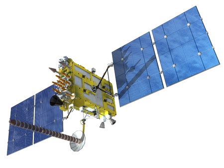 satellite in space: Modern navigation satellite glonass Stock Photo