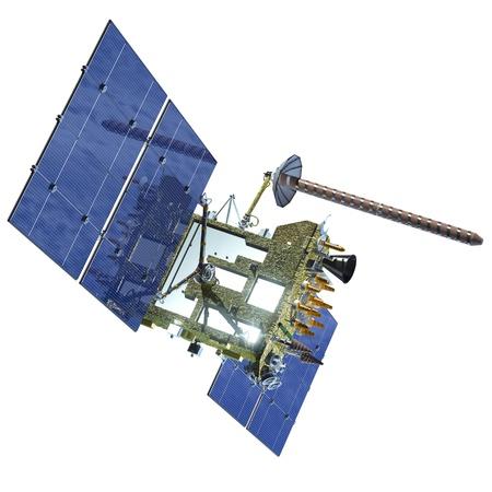satelite: Modern navigation satellite isolated glonass