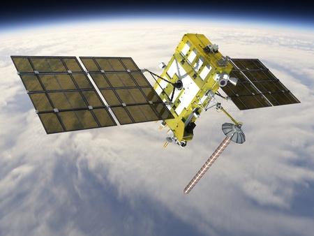 Modern navigation satellite glonass-k at the orbit photo