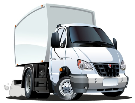 cartoon delivery   cargo truck Vector