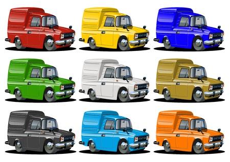 pick: Cartoon pickups set isolated on white background Stock Photo