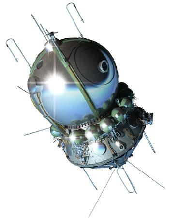Raumschiff Wostok isoliert auf weißem Hintergrund Standard-Bild - 12838175