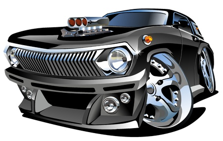 cartoon retro hot rod Vector