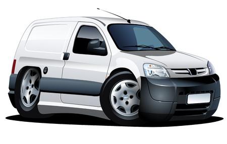 Cartoon Lieferwagen. Ein Klick repaint Standard-Bild - 13310395