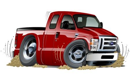 camioneta pick up: recogida de dibujos animados del músculo de un clic pintar