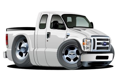 camion caricatura: Vector de dibujos animados del músculo de recogida. (Con un solo clic pintar) Vectores