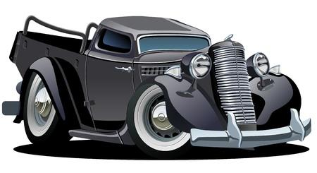 Vektor Retro Karikatur Pickup Standard-Bild - 14254296