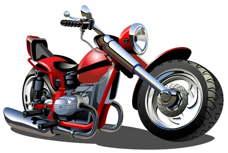 power wrench: Vector Cartoon Motorcycle Illustration