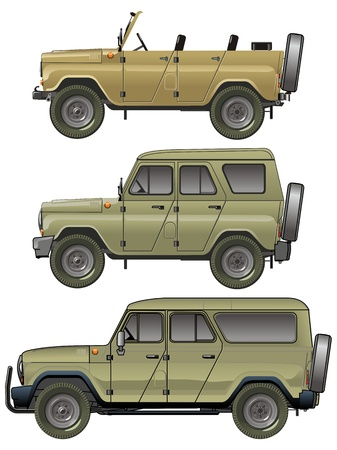vehicle combat: Vector jeeps set
