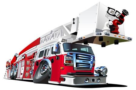 bombero de rojo: dibujos animados camión de bomberos
