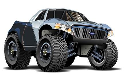 camioneta pick up: Vector de dibujos animados Buggy