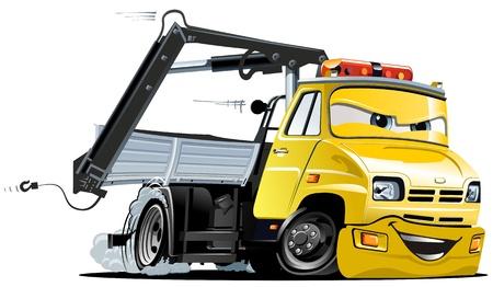 camion grua: Vector de dibujos animados de camiones de remolque