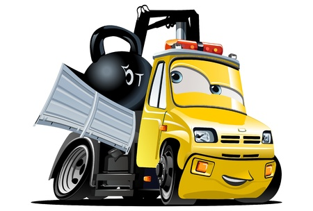 Vector Cartoon Tow Truck Stock Vector - 15985628