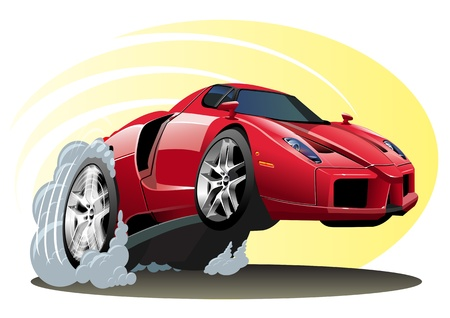 carro caricatura: Cartoon Sportcar