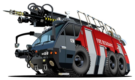 fire car: Cartoon Fire Truck Illustration