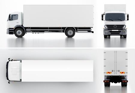 Lieferung Cargo Truck Standard-Bild - 16595040