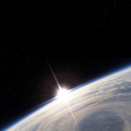 orbits: Sunrise over storm