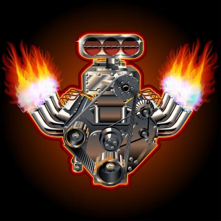 Cartoon Turbo Motor