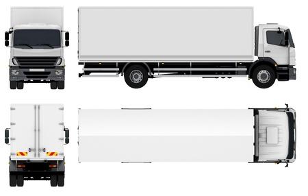 Lieferung Cargo Truck Standard-Bild - 16976036