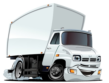 Cartoon Cargo Truck Stock Vector - 17024112