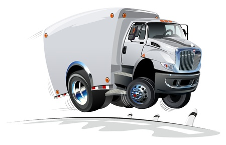 moving truck: Cartoon delivery cargo truck