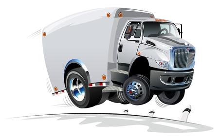 autom�vil caricatura: Entrega de dibujos animados de camiones de carga Vectores