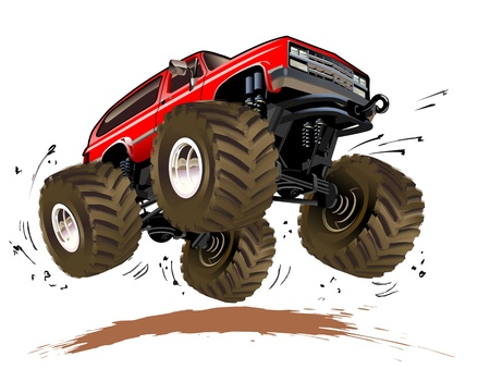 offroad: Cartoon Monster Truck Illustration