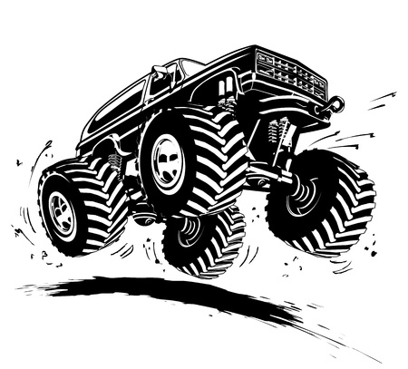 Cartoon Monster Truck Standard-Bild - 18594945