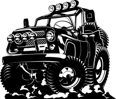 grille: Cartoon car Illustration