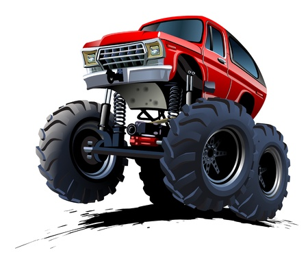 Cartoon Monster Truck Standard-Bild - 18728547