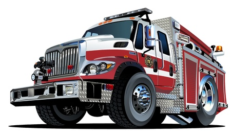 voiture de pompiers: Fire Truck Vector Cartoon