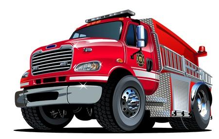Vector Cartoon Fire Truck Stock Vector - 18991257
