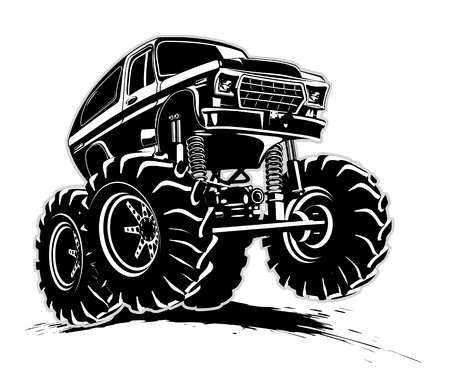 Cartoon Monster Truck Standard-Bild - 18991255