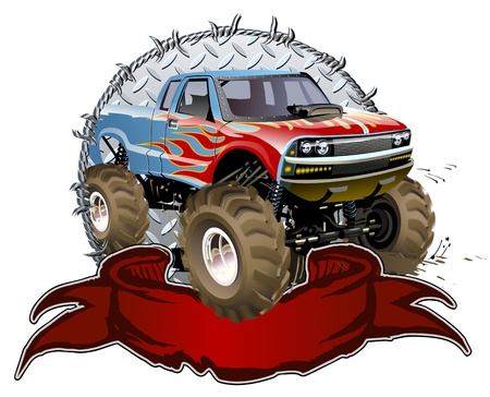 bigfoot: Cartoon Monster Truck Vectores
