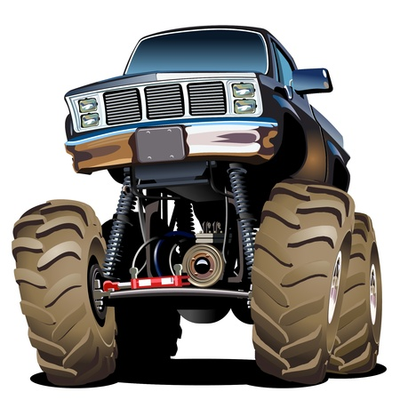 Cartoon Monster Truck Standard-Bild - 19583130