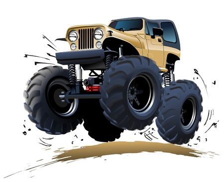 4x4: Cartoon Monster Truck Illustration