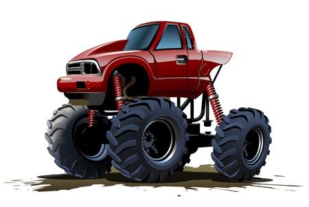 custom car: Cartoon Monster Truck Illustration