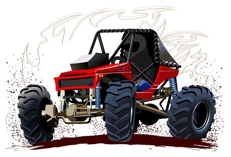 off on: Vector Cartoon Buggy