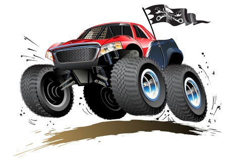 Cartoon Monster Buggy Standard-Bild - 19730948