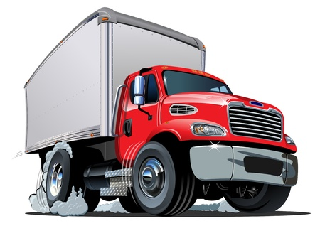 semi truck: Cartoon entrega de camiones de carga Vectores