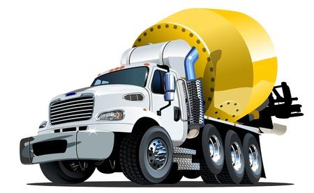 semi truck: Historieta del cami�n hormigonero solo clic repintar opci�n