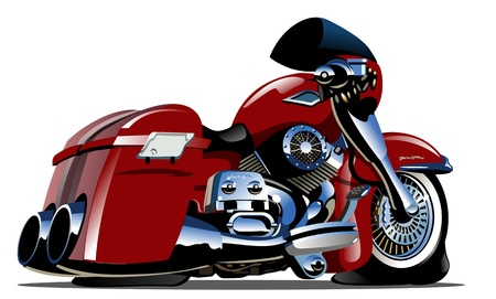 wheel: Cartoon Motorbike Illustration