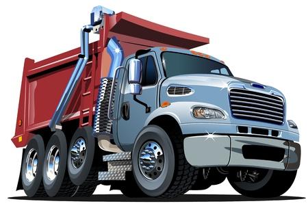 만화 덤프 트럭